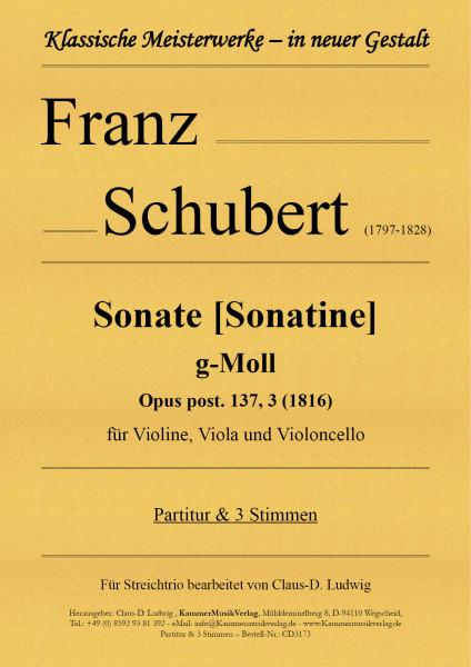 Schubert, Franz – Sonate [Sonatine] g-Moll für Violine, Viola und Violoncello