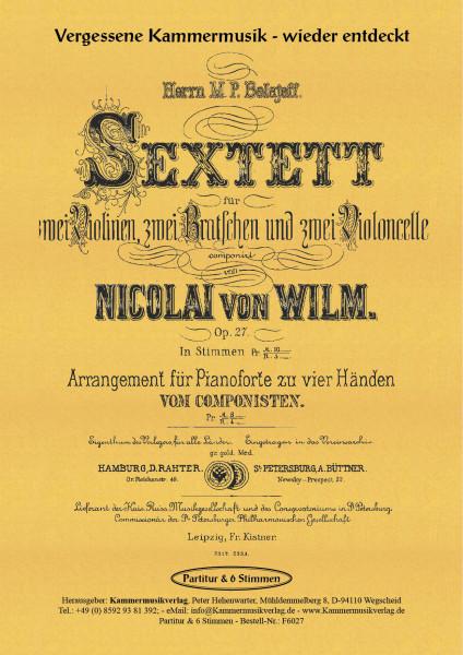 Wilm, Nicolai von – Streichsextett