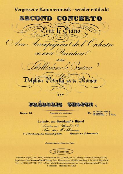 Chopin, Frédéric – Klaviersextett Nr. 2, f-Moll, op. 21