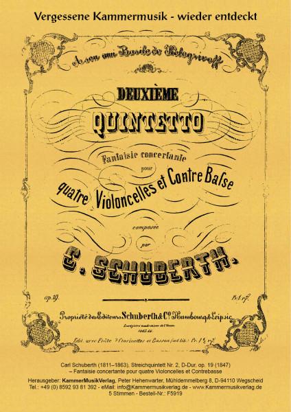 Schuberth, Carl – Streichquintett Nr. 2, D-Dur, op. 19