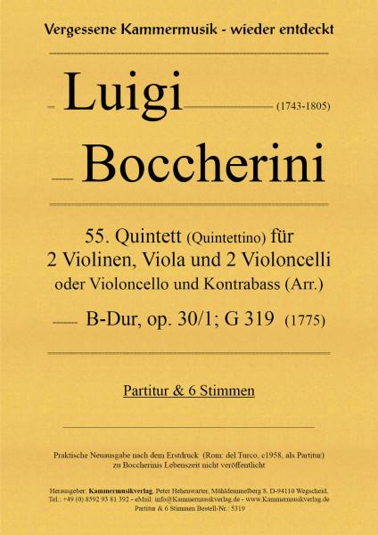 Boccherini, Luigi – 55. Quintett für 2 Violinen, Viola und 2 Violoncelli oder Vc und Kb