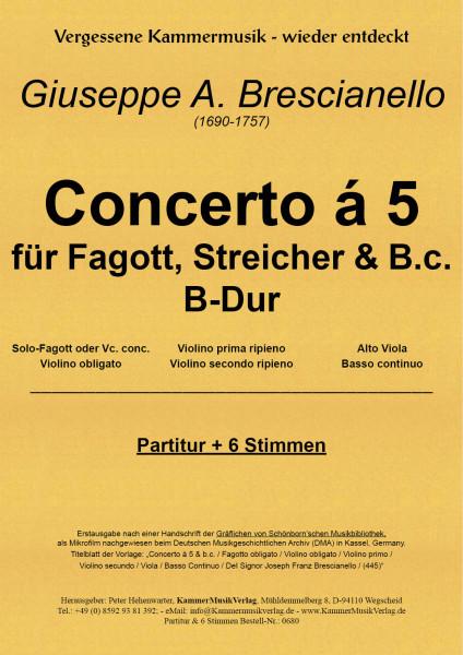 Brescianell, Giuseppe Antonio – Bläser-Streicher–Sextett B-Dur mit Fagott