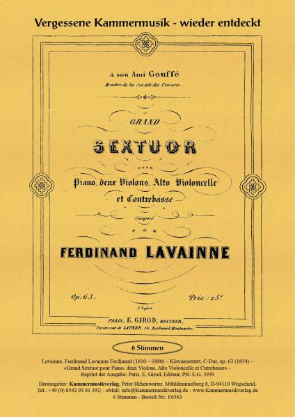 Lavainne, Ferdinand – Klaviersextett, C-Dur, op. 63