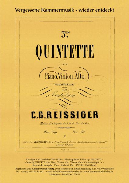Reissiger, Carl Gottlieb – Klavierquintett, F-Dur, op. 209