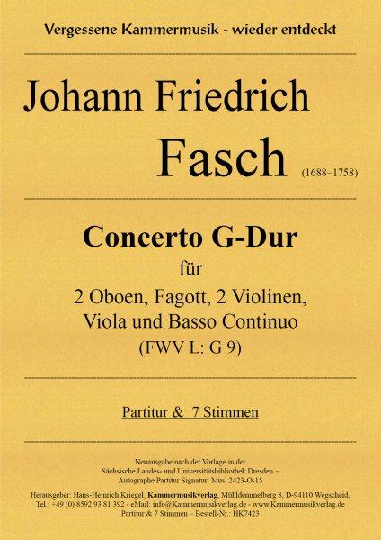 Fasch, Johann Friedrich – Concerto G-Dur (FWV L: G 9)