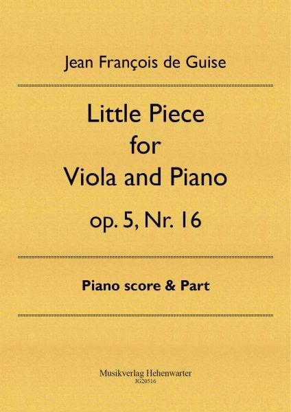 Guise, Jean François de – Little Piece for Viola and Piano op. 5, Nr. 16