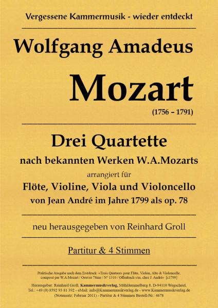 Mozart, Wolfgang Amadeus – 3 Flötenquartette in G, C, D, KV Anh.169