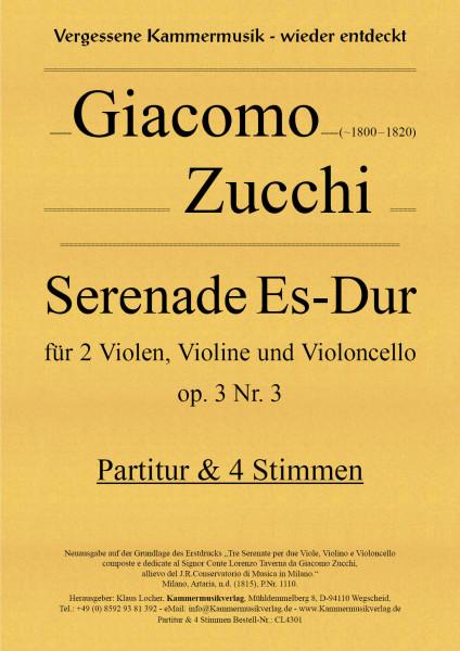 Zucchi, Giacomo – Serenade Es-Dur, op. 3 Nr. 3