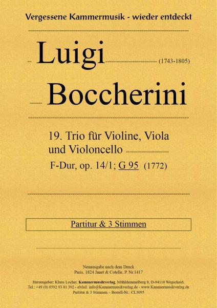 Boccherini, Luigi – 19. Trio für Violine, Viola und Violoncello, D-Dur, op. 14, Nr. 1, G 95