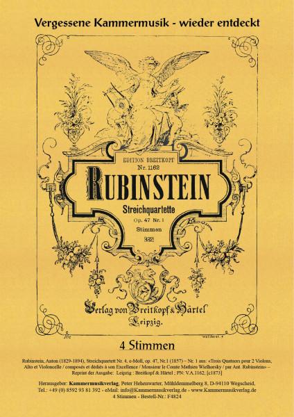 Rubinstein, Anton – Streichquartett Nr. 4