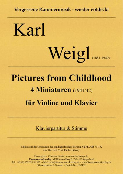 Weigl, Karl – Pictures from Childhood – 4 Miniaturen für Violine und Klavier
