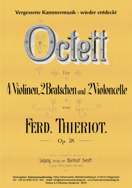 Thieriot, Ferdinand – Streichoktett, C-Dur