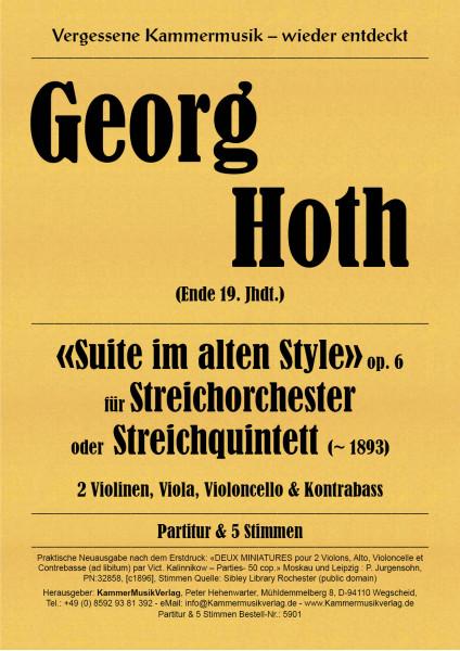 Hoth, Georg – Suite für Streichorchester