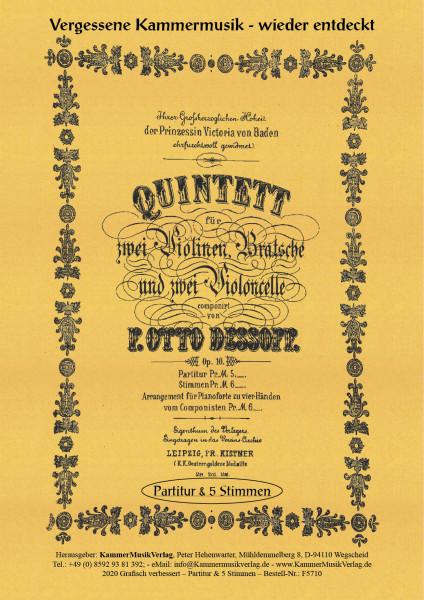 Dessoff, Felix Otto – Streichquintett, G-Dur, op. 10