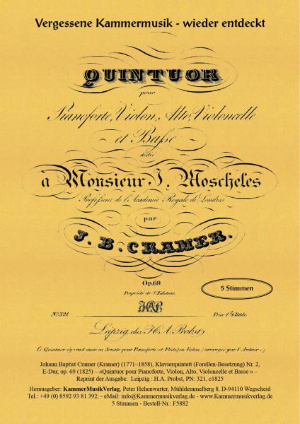 Cramer (Kramer), Johann Baptist – Klavierquintett (Forellen-Besetzung) Nr. 2