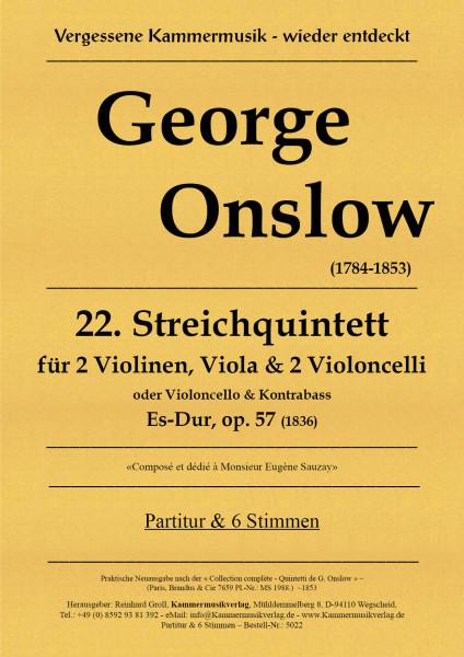 Onslow, George – Streichquintett Nr. 22, Es-Dur, op. 57