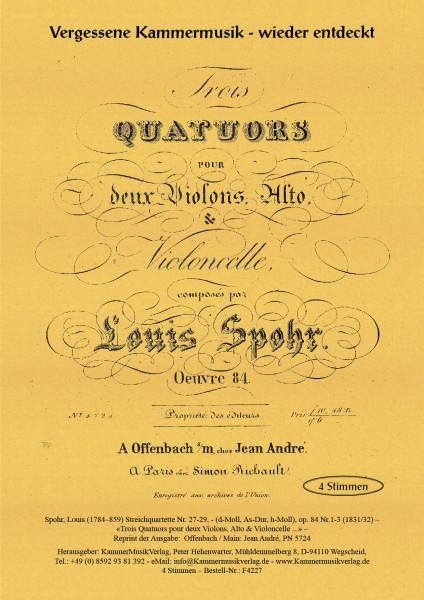 Spohr, Louis – Streichquartette Nr. 27-29, op. 84 Nr.1-3