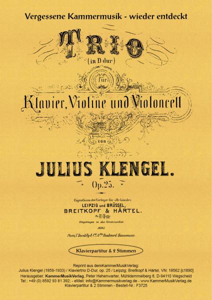 Klengel, Julius – Klaviertrio Nr. 1, D-Dur, op. 25