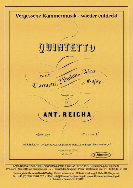Reicha, Anton – Klarinettenquintett