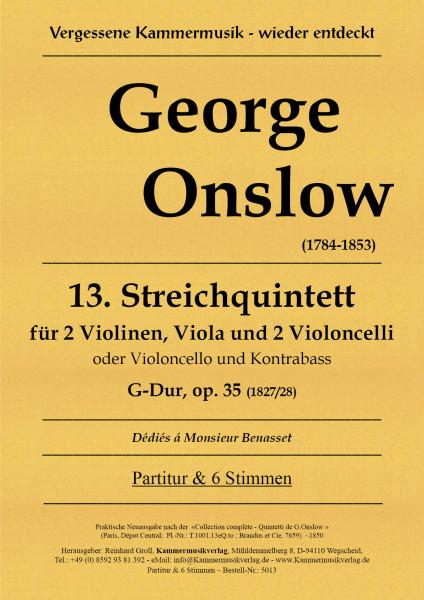 Onslow, George – Streichquintett Nr. 13, G-Dur, op. 35