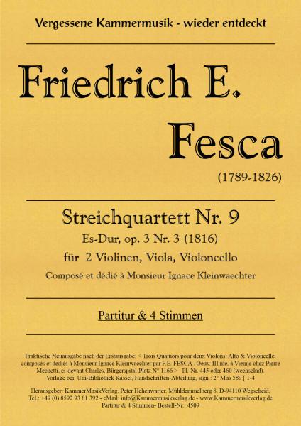 Fesca, Friedrich Ernst – Streichquartett Nr. 9, Es-Dur, op. 3-3