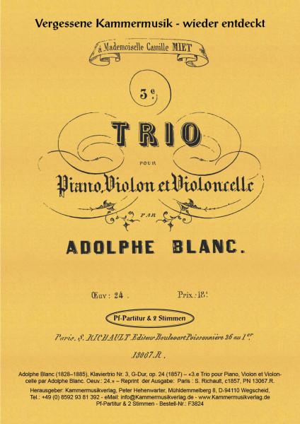 Blanc, Adolphe – Klaviertrio Nr. 3, G-Dur, op. 24