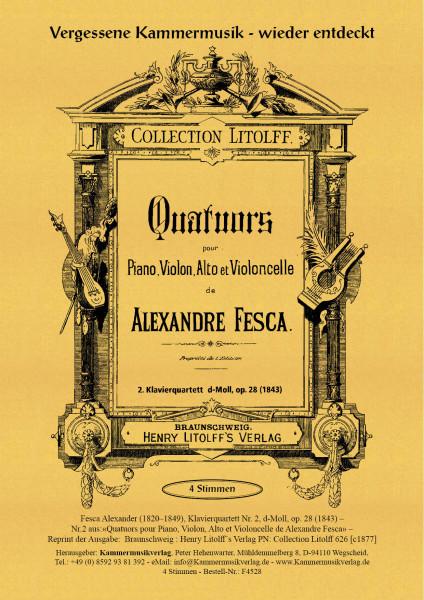 Fesca, Alexander – Klavierquartett Nr. 2, d-Moll, op. 28