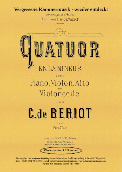Bériot, Charles de – Klavierquartett, a-Moll, op. 50