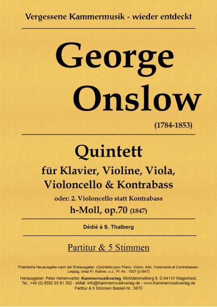 Onslow, George – Klavierquintett (Forellenbesetzung) Nr. 1, h-Moll, op. 70