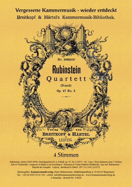 Rubinstein, Anton – Streichquartett Nr. 6