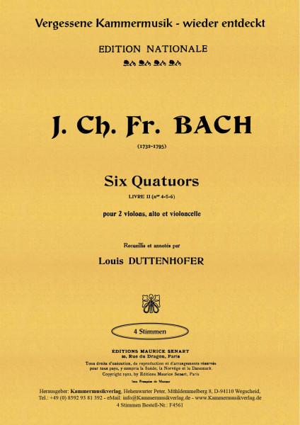 Bach (Bückeburg), Johann Christ. – Streichquartette Nr. 4-6, Es, B, A-Dur, op. 1, Nr. 4-6