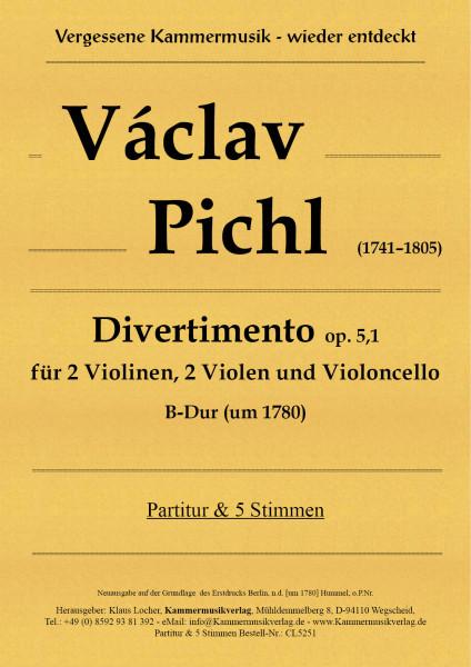 Pichl, Václav – Divertimento op. 5,1 – B-Dur