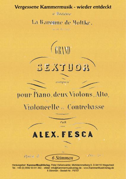 Fesca, Alexander – Klaviersextett, B-Dur, op. 8