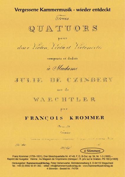 Krommer, Franz – Drei Streichquartette Nr. 47-49