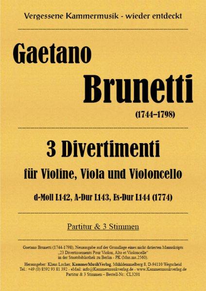Brunetti, Gaetano – 3 Divertimenti, op. 3