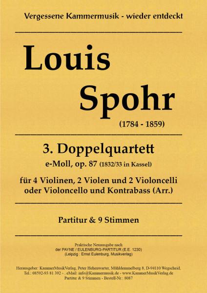 Spohr, Louis – Doppelquartett Nr. 3, e-Moll, op. 87