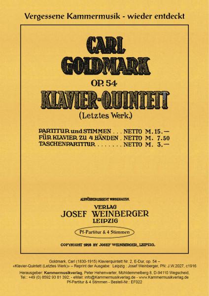 Goldmark, Carl – Klavierquintett Nr. 2