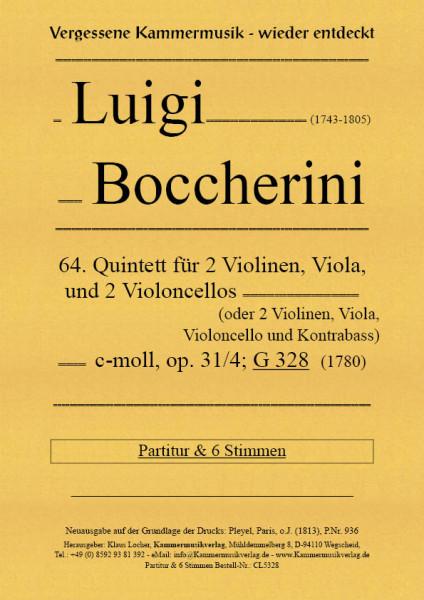 Boccherini, Luigi – 64. Quintett für 2 Violinen, Viola und 2 Violoncelli, c-Moll, op. 31-4, G328