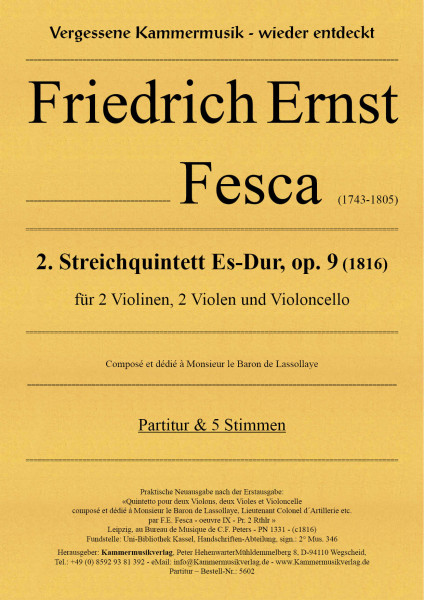 Fesca, Friedrich Ernst – Streichquintett Nr. 2
