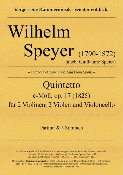 Speier (Speyer), Wilhelm – Streichquintett, c-Moll, op. 17