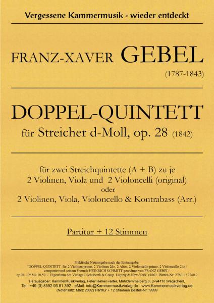 Gebel, Franz Xaver – Doppel-Quintett