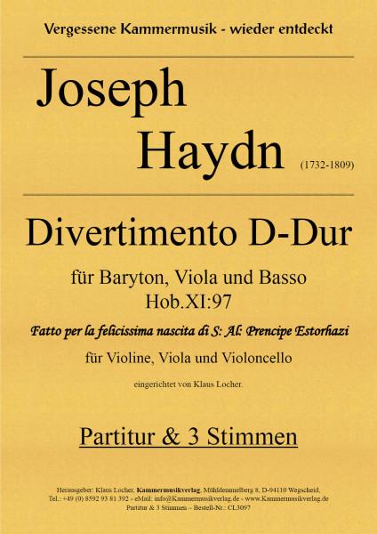 Haydn, Joseph – Divertimento D-Dur für Streichtrio