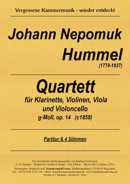 Hummel, Johann Nepomuk – Klarinettenquartett, Es-Dur, op. WoO