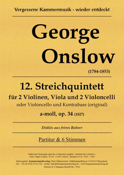 Onslow, George – Streichquintett Nr. 12