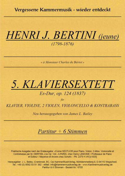 Bertini, Henri Jérôme – Klaviersextett (2 Va) Nr. 5, Es-Dur, op. 124