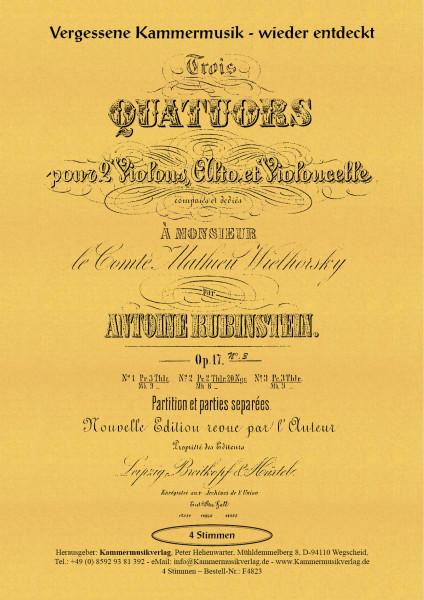 Rubinstein, Anton – Streichquartett Nr. 3, F-Dur, op. 17, Nr.3