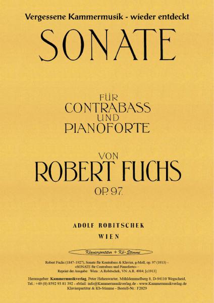 Fuchs, Robert – Sonate für Kontrabass & Klavier, g-Moll, op. 97