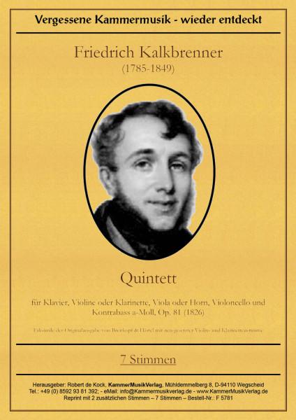 Kalkbrenner, Friedrich – Klavierquintett mit Kb
