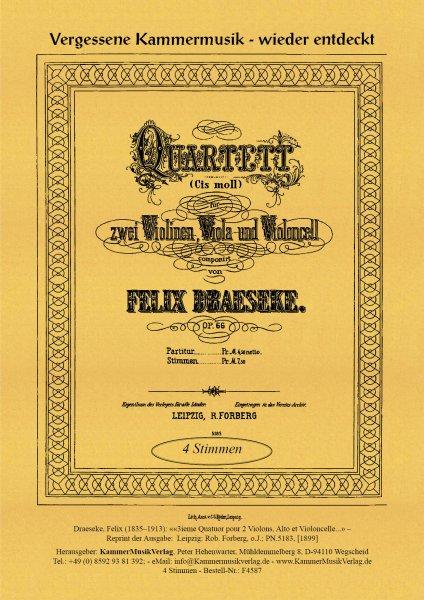Draeseke, Felix – Streichquartett Nr. 3, cis-Moll, op. 66