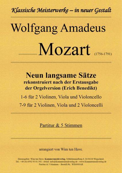 Mozart, Wolfgang Amadeus – Neun langsame Sätze für Streicher